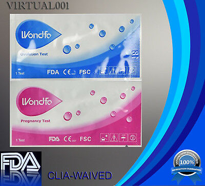 NEW WONDFO 100 ovulation and 20 pregnancy (100 LH+20 HCG) test strips
