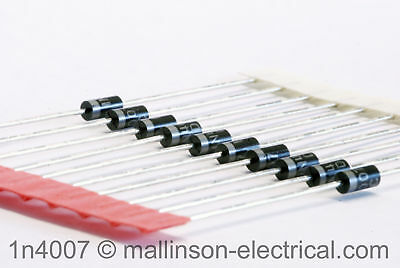 Pack of 10 1N4007 Silicon Rectifier Diodes