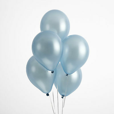 "50 LIGHT BLUE BALLOONS 12"" QUALITY Helium Air LATEX Biodegradable Wedding Party"