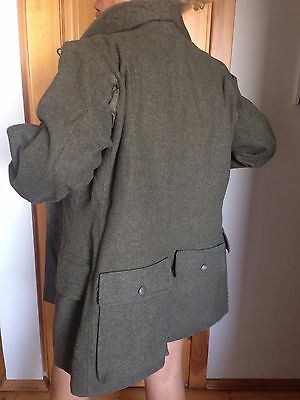 Military Swedish 1940 Woolen jacket /coat  size 46 in L can be unisex