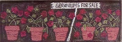 """New Punchneedle Pattern by Primitive Gatherings  """"Geraniums For Sale"""""""