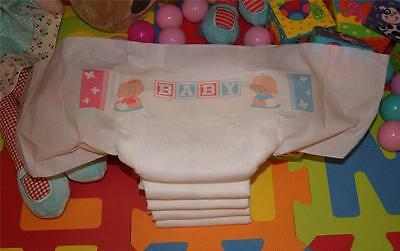 Adult Baby Sissy Baby Logo Disposable Nappies Diapers X 10 (S , M , L , Xl)