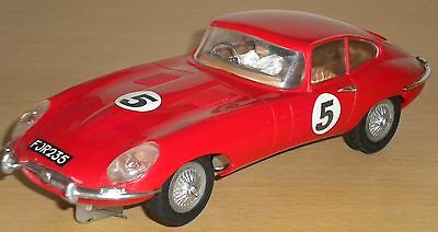 Triang Scalextric Super 124 E Type Jaguar Made in England Ref 24C - 101