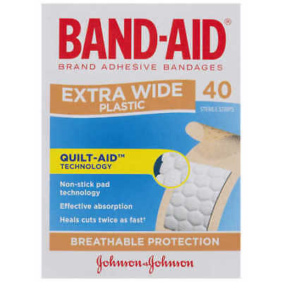 Band-Aid Brand Extra Wide Plastic Strips 40