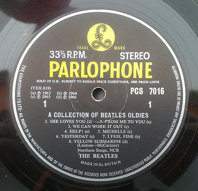 """"""" Collection Of Beatles Oldies """" Rare Orig Uk Stereo In Lovely Ej Day Sleeve"""