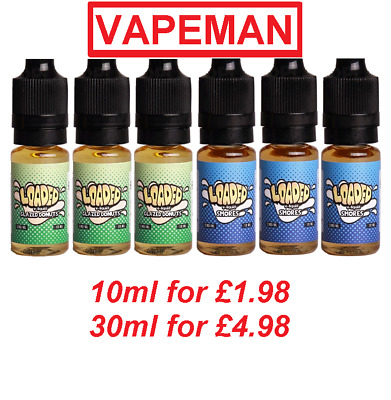 LOADED Glazed Donuts Smores 3x10ml 3mg E Liquid Juice Vape TPD Best Top Ruthless