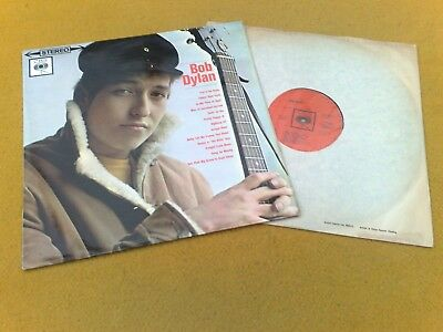 """"" Bob Dylan "" Super  Mega Rare Uk Stereo Banner Slv 1G1G Emi Contract Press"
