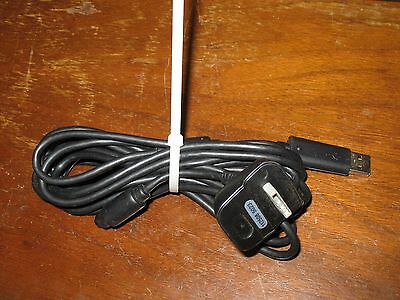 NYKO Xbox 360 Play & Charge Controller Charging Cable Black  EUC