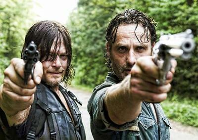 THE WALKING DEAD POSTER Rick Grimes Daryl Dixon Art Print Photo Poster A4 A3