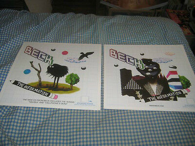 BECK-(the information)-1 POSTER FLAT-2 SIDED-12X12-NMINT-RARE