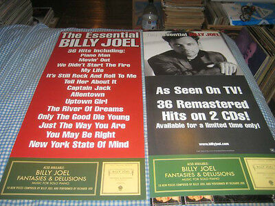 BILLY JOEL-(the essential)-1 POSTER FLAT-2 SIDED-12X28-RARE