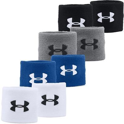 "Under Armour Mens 3"" Performance Sports Wristband Sweatband -Pair"