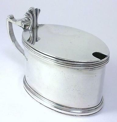 Vintage hallmarked Sterling Silver Mustard Pot & Glass Liner –1933 by E. Barnard