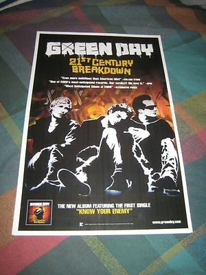 GREEN DAY-(21st century breakdown)-1 POSTER-SINGLE SIDED-MINT-RARE