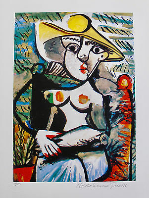 Pablo Picasso HALF NUDE LADY Estate Signed Limited Edition Art Giclee