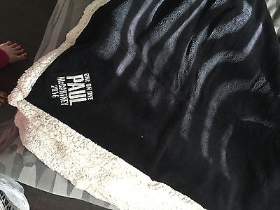 Paul McCartney Blanket From His 2016 One On One Tour! Exclusive And Rare BEATLES