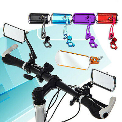1 Pair Aluminum Bike Mirror Mountain Bicycle Rearview Handlebar Rear Back View