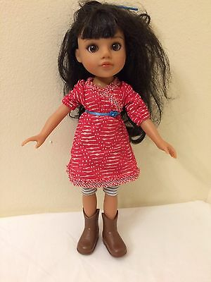 """Hearts for Hearts Doll MOSI Native American Girl Doll 14"""" retired Used Original"""