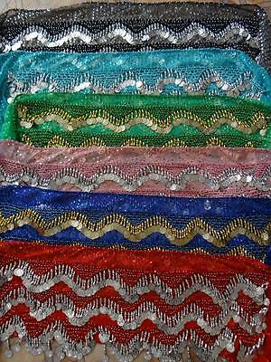 Egyptian made Belly Dance Disco Sequin Hip Scarves - Choose Colour