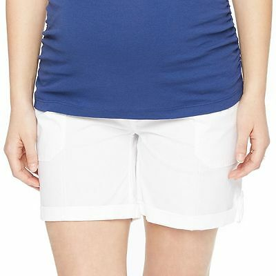 OH BABY BY MOTHERHOOD Women's MATERNITY Shorts White Sz Large NWT !