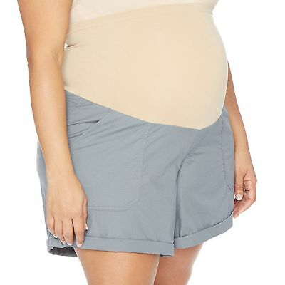 OH BABY By MOTHERHOOD Women's Maternity Plus Size Shorts GRAY Sz 1X NWT !