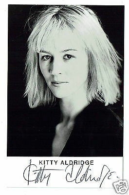 Kitty Aldridge Actress and writer Hand Signed Photograph 5 x 3