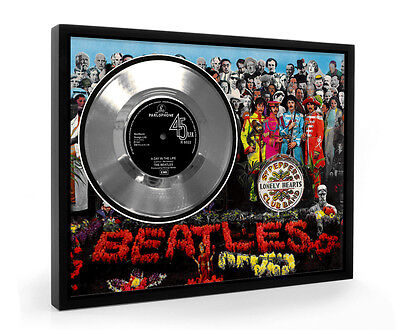 Beatles A Day In The Life Framed Silver Disc Display Vinyl (C1)