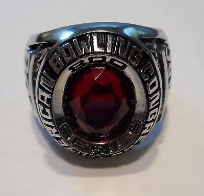Very Collectible American Bowling Congress 800 Series Game Ring  Size 9 1/2