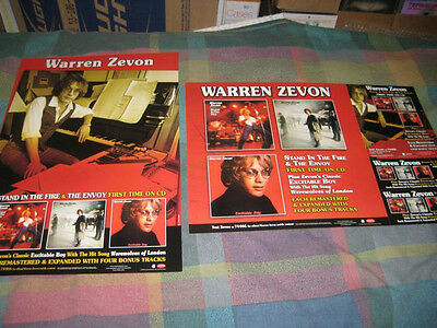 WARREN ZEVON-(remastered & expanded)-1 POSTER-2 SIDED-12X18-MINT-RARE