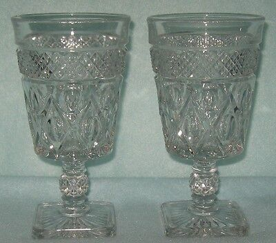 """Imperial Cape Cod 2 Water Goblets 8 Ounce 6 1/4"""""""