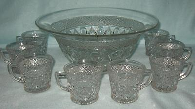 Imperial Cape Cod Punch Bowl with 12 Cups