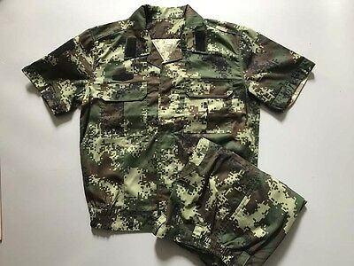 16's series China Armed Police Force Woodland Digital Camo Combat Jacket、Pants,A