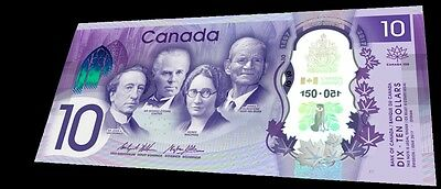 2017 Latest Canada 150th Commemorative 10 Dollar Polymer UNC Banknote