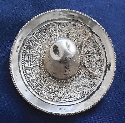 MEXICO ARTISAN Signed STERLING Silver PRESSED VINTAGE SOMBRERO