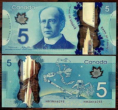 CANADA - 2013 Series 5 $ - Five Dollars Polymer Banknote - Gem UNC