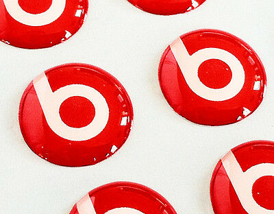 BEATS AUDIO 3D domed sticker badge 11mm size (Set of 2) [H182]