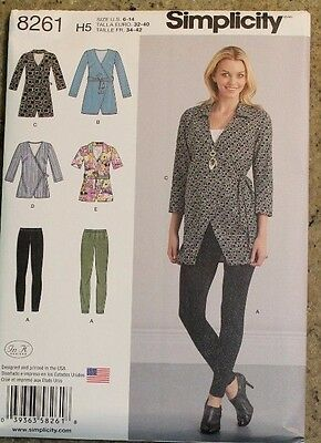 Simplicity Sewing Pattern 8261 Misses Tunic Knit Leggings, Size 6, 8, 10, 12, 14