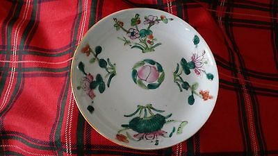 Antique Chinese Tongzhi Period Porcelain Plate Dish Celadon Glazed Famille Rose