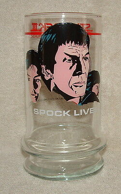 Star Trek III Search For Spock Movie Promo Glass Spock Lives 1984 Taco Bell