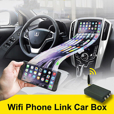 Wireless Car WiFi Mirror link IOS Android Airplay Miracast Allshare Cast DLNA