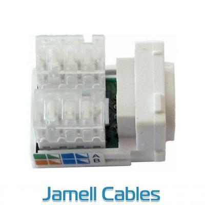CAT6 RJ45 Network Wall Plate Insert (50 pack)