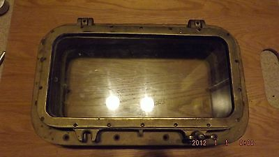Vintage Marine Nautical Bronze Ship Rectangle Porthole