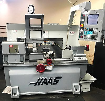 Haas Tl-1 Cnc Toolroom Lathe With Cnc Programmable Turret!