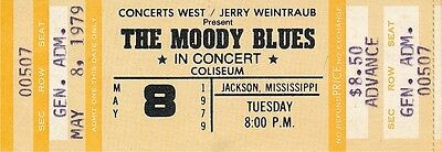 Moody Blues Octave Tour 1979 Unused Concert Ticket Near Mint
