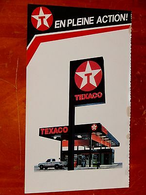 French 1984 Texaco Gas Stations Gas Canadian Ad / Vintage Retro Canada