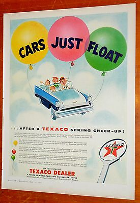 Canadian 1957 Texaco Spring Check Up Ad - Vintage 1950S Auto Canada Gas Station