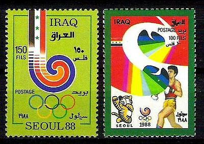 IRAQ Summer Olympics Seoul South Korea 1988 SC1354 -55 SG# 1842 - 43  RARE