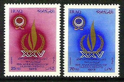 IRAQ 1973 Anniversary Of Declaration Of Human Rights Scott 708- 909 MNH RARE