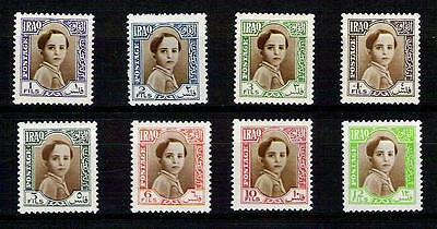 Kingdom Of Iraq  - King Faisal II  - 1942  Scott No# 102 - 109 SET MNH