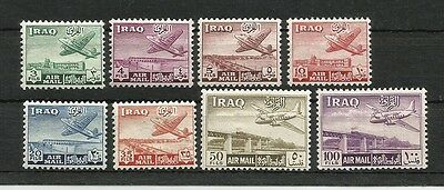 IRAQ IRAK 1949 Air mail Airplane Stamps SC# C1 - C8  MH